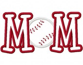 Baseball Softball Mom Embroidery Machine Applique Design 2439 Instant Download