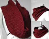 Infinity Loop Knitting Patterns - Coline Cowl Snood Neckwarmer - PDF electronic delivery - Original design