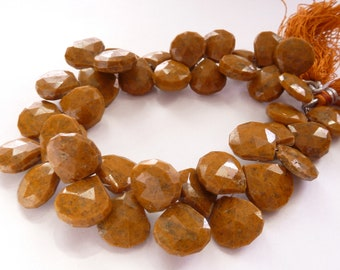 Brown Agate Faceted Heart Briolette (No. 1469)
