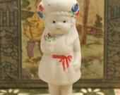 Vintage Bisque Ceramic Doll Japan