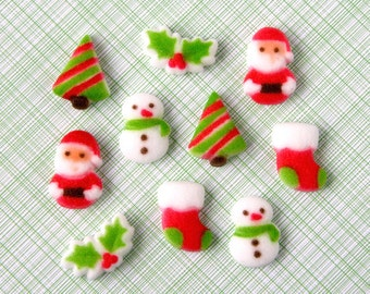 Christmas Sugar Decorations for Cupcake and Cake Decorating (20)