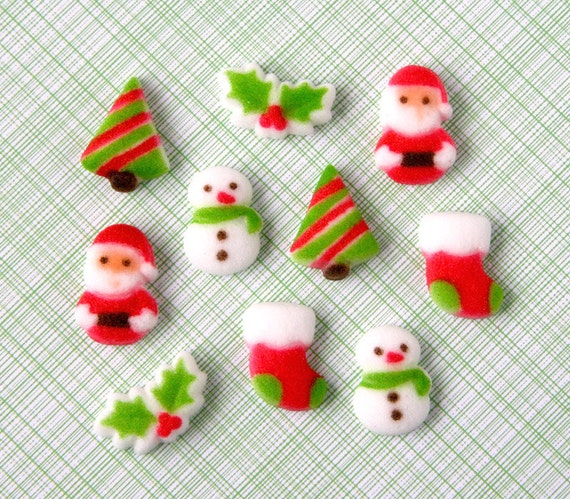 Cake Decorating Sugar Dough : Christmas Sugar Decorations for Cupcake and Cake by ...