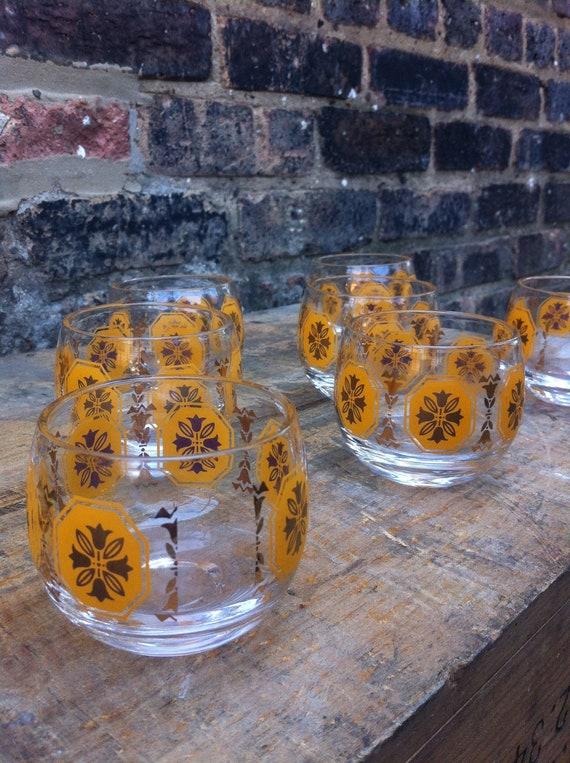 Set of Eight Vintage Glasses