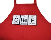 Chef Full Apron, Adjustable with pockets Periodic Table Elements