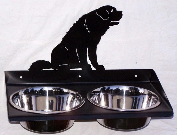 dog feeder for saint bernard elevated raised wall mount bowls. Black Bedroom Furniture Sets. Home Design Ideas