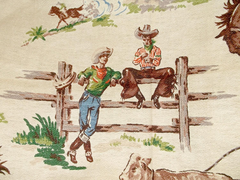 Amazoncom: vintage cowboy fabric
