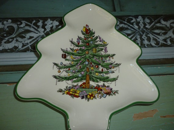 Spode Christmas Tree Dish ~ Christmas Tree Pattern ~ Serving Tray ~ Holiday Entertaining ~ Collectible ~ Gift For Her