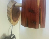 Cedar hanging wall lamp
