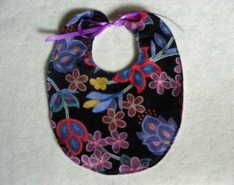 Bib - Native American Floral Beadwork Print