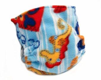 Cloth Diaper Cover OS, Fleece - NO PUL - Ocean, sea, crab, seahorse