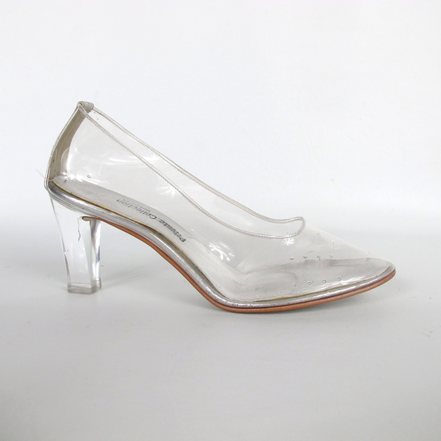 Clear Glass Heels Shoes