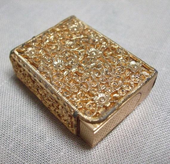 Elizabeth Ames NYC Perfume Atomizer Gold Filigree Design