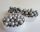 Edible Fondant Pearls - Shiny Silver Shades - Platinum - Silver - Charcoal Silver 6mm qty 100 pearls, Cake Decoration Cupcake Topper