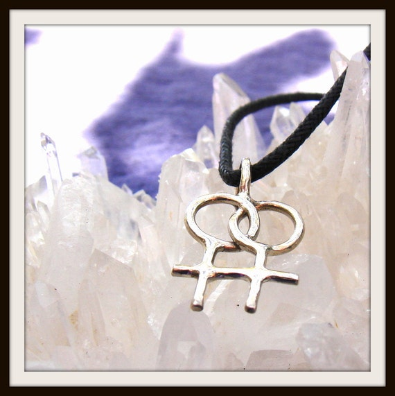 Female Love Pride Symbol Sterling Silver Pendant Necklace ON SALE