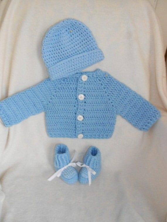 Infant Boys Blue Sweater Set Size 6 - 9 mos