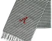 Houndstooth Alabama Cashmere feel Large scarf   Fall Football  Bama Roll Tide Monogram Initials Personalized