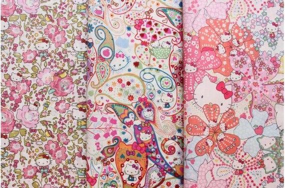 3 pcs of Liberty fabrics - Hello Kitty Liberty - 2012 - 5