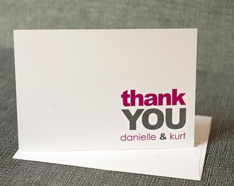 Modern Thank You Notes Printable Simple Thank You Note Personalized Thank You Notes