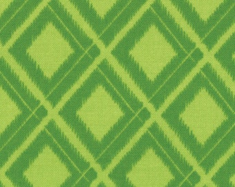 Simply Color by V & Co for Moda Fabrics, Ikat Diamonds in Lime Green 1/2 yard total