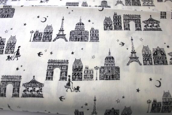 kokka Japanese fabric  - Paris at night black FQ