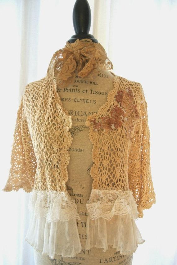 crochet sweater cottage fall clothing white magnolia ruffle