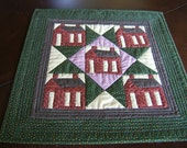 Five Little Red Schoolhouses Wall Hanging