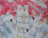 Baby Shower Personalized Bookmarks