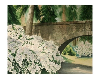 Bridge at Manito Park - Limited Edition Giclee