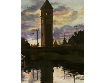 Clocktower Sunset - Limited Edition Print