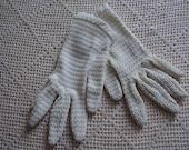 Vintage Gloves White Dacron Nylon Size 6 1/2