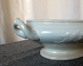 Victorian Ironstone Tureen Planter Paperwhites Narcissuss 1800s White Footed Urn with Lilly of the Valley