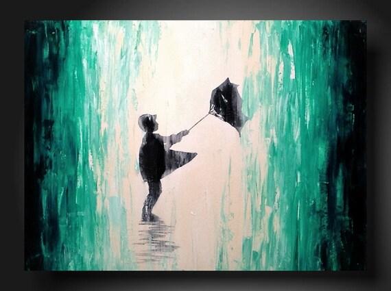 Art original Abstract painting  JMJARTSTUDIO Original Painting 18 X 24 Inches-------away--------Textured