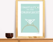 Engagement Gift Irish Trad Poster