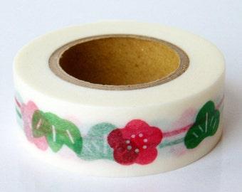 Discontinued-Japanese Washi Masking Tapes / Traditional Japanese Design-Pine, bamboo & plum (Shochikubai)