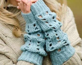 Slouchy Arm Warmers Crochet Pattern PDF