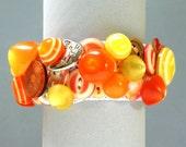 Button Bracelet, Cats 'n Gumdrops