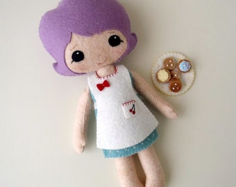 Outfit - Baking Set pdf Pattern for Best Friends Dolls - Instant Download