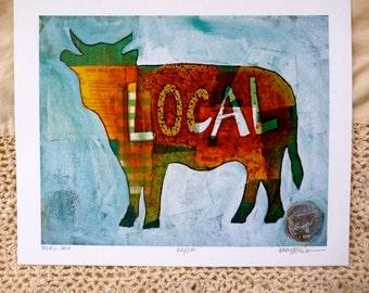 SALE - Local Cow Print 8x10