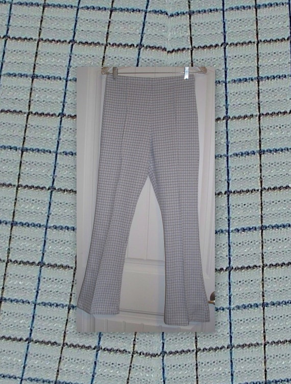 VINTage 70s checkered stretch pant