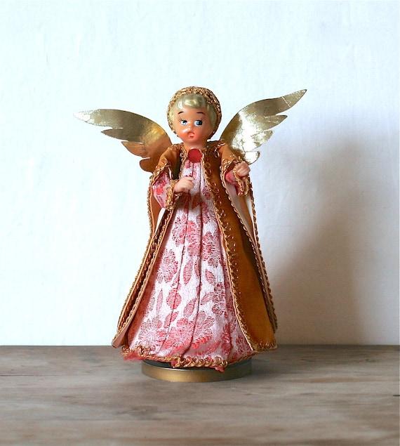 Circa 1950s Grants Musical Revolving Angel Doll Silent Night