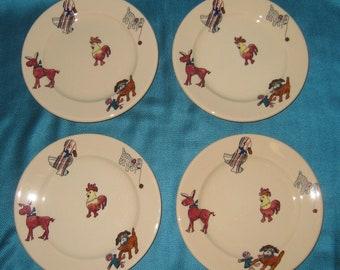 Syracuse China Adobe Ware Plates 1 - FF USA Set of Four
