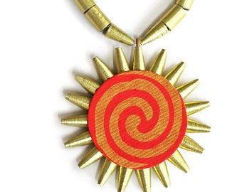 Sun pendant necklace - Indian jewelry - Bold necklace - Indian jewellery - Bold statement necklace - Indian necklace - Bold pendant necklace