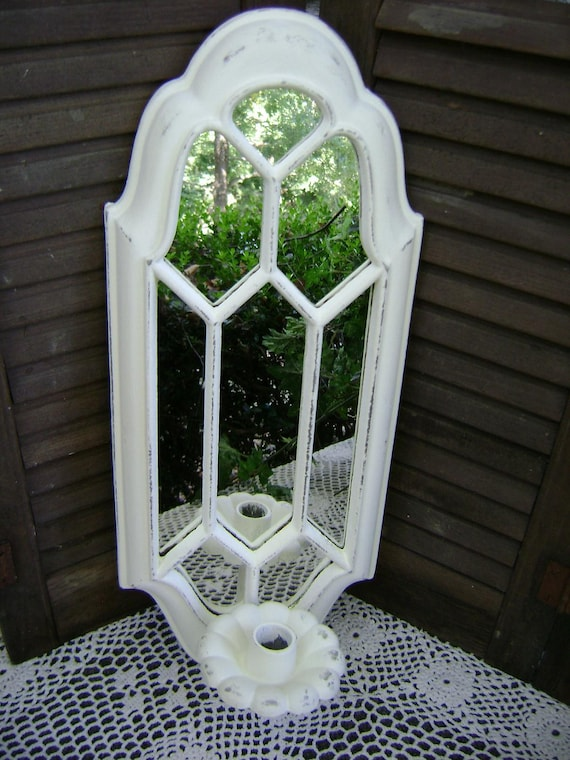 Mirrored Sconce, Shabby, Distressed, Upcycled