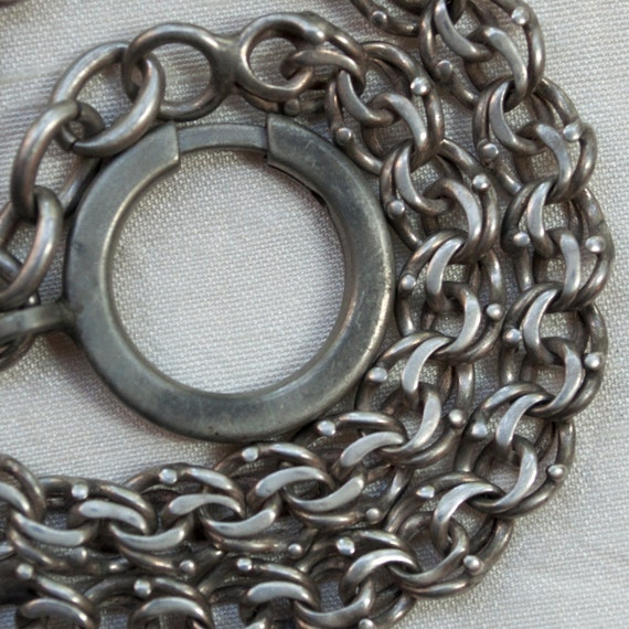 Reserved for Julie Antique Watch Chain Sterling Silver  Hallmarked from France