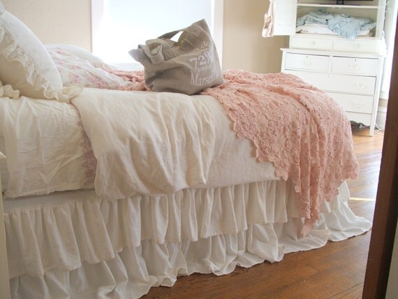 Shabby Chic Bedding Romantic Tiered Ruffle Dust By