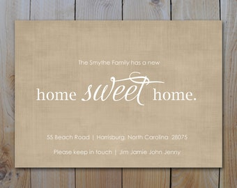Moving Announcement /  New Home Sweet Home  / PRINTABLE / 1119