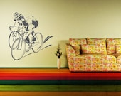 Wall Decal Bicycle Bike Cyclist Sport Race Tour De France Transportation Cycle
