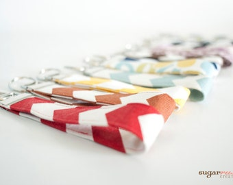 Fabric Key Fob, Key Chain, Wristlet