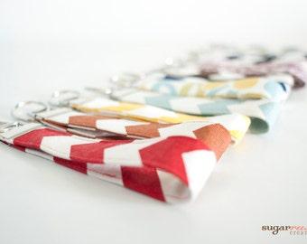 Fabric Key Fob, Key Chain, Wristlet
