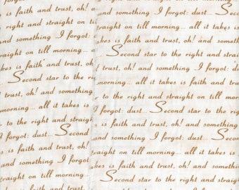 "pretty script card making supplies scrapbook Muslin ribbon handmade 4.5"" wide c758 . ....oohlala"
